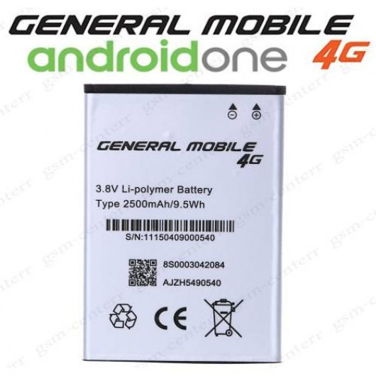 General Mobile 4G Android One Pil Batarya